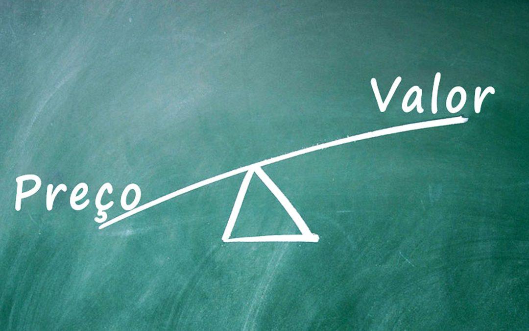 Diferença entre preço e valor
